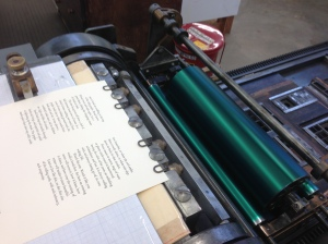 "Printing ""The Poplar Tree"""