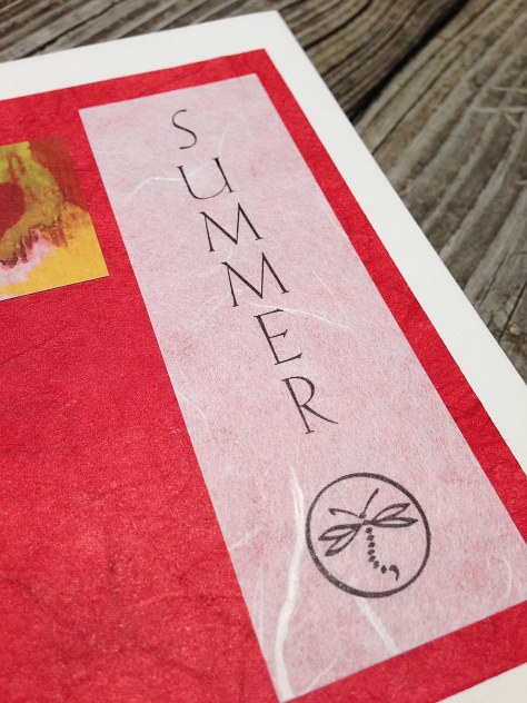 "Close-up of ""Summer"" title page."