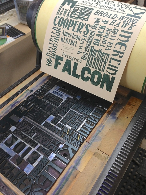 Hawk Poster on press