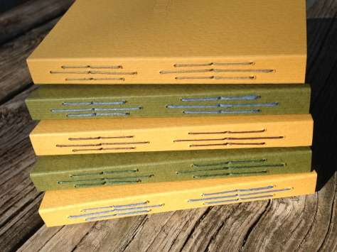 The Bulfinch Journals, in mustard or deep green.