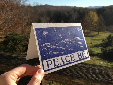 Peace Be Notecard and mountains