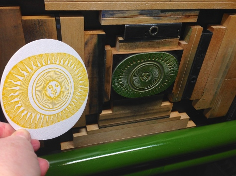 Sun Coaster on press