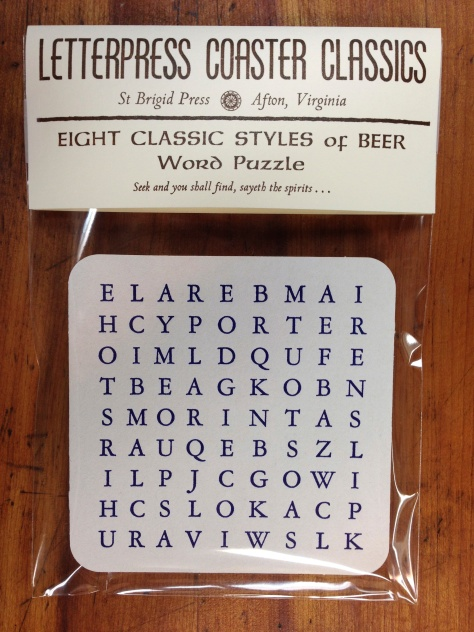 Beer Puzzle Coasters