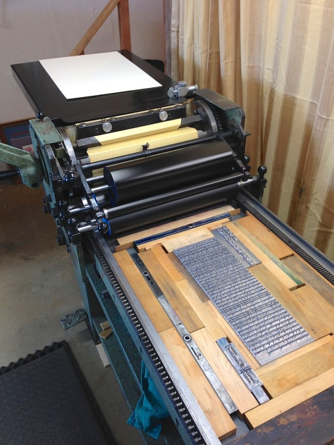 Letterpress printed on our Challenge 15MP proof press.