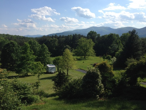 The front yard at St Brigid Press, in Virginia's Blue Ridge Mountains.