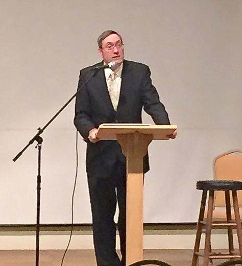 "Dr. Stan Galloway, reading ""Winter Garden"" at the Bridgewater International Poetry Festival (1/15/15)."